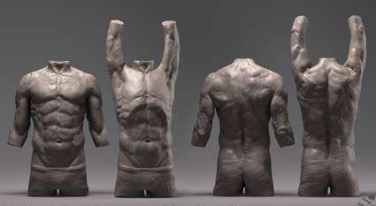 ZBrush结构教程雕刻高级人体-DigitalFigureS女生自己教程摸图片