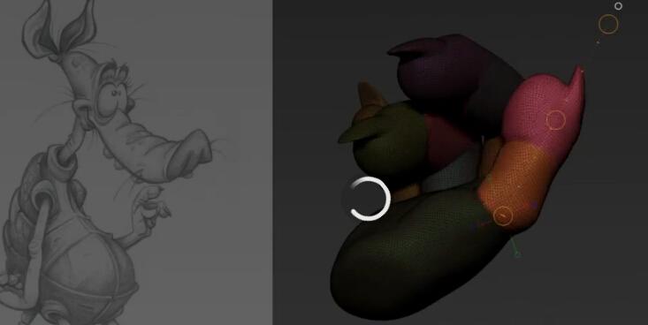 卡通小动物的快速雕刻 30分钟_教程_【花魁小站】_cg