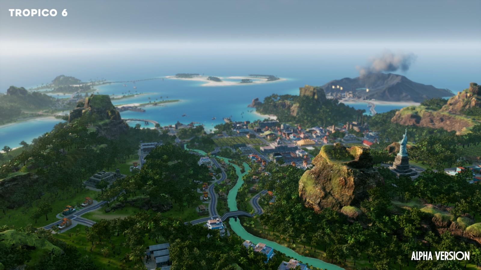 秋季海岛风景图片